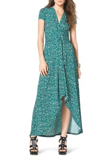 MICHAEL Michael Kors Printed High-Low Maxi Dress