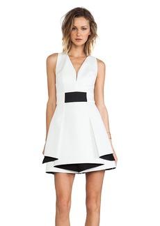 Robert Rodriguez Bonded Neo Flounce Dress in White