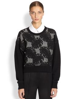 Jason Wu Embroidered Combo Wool Sweater