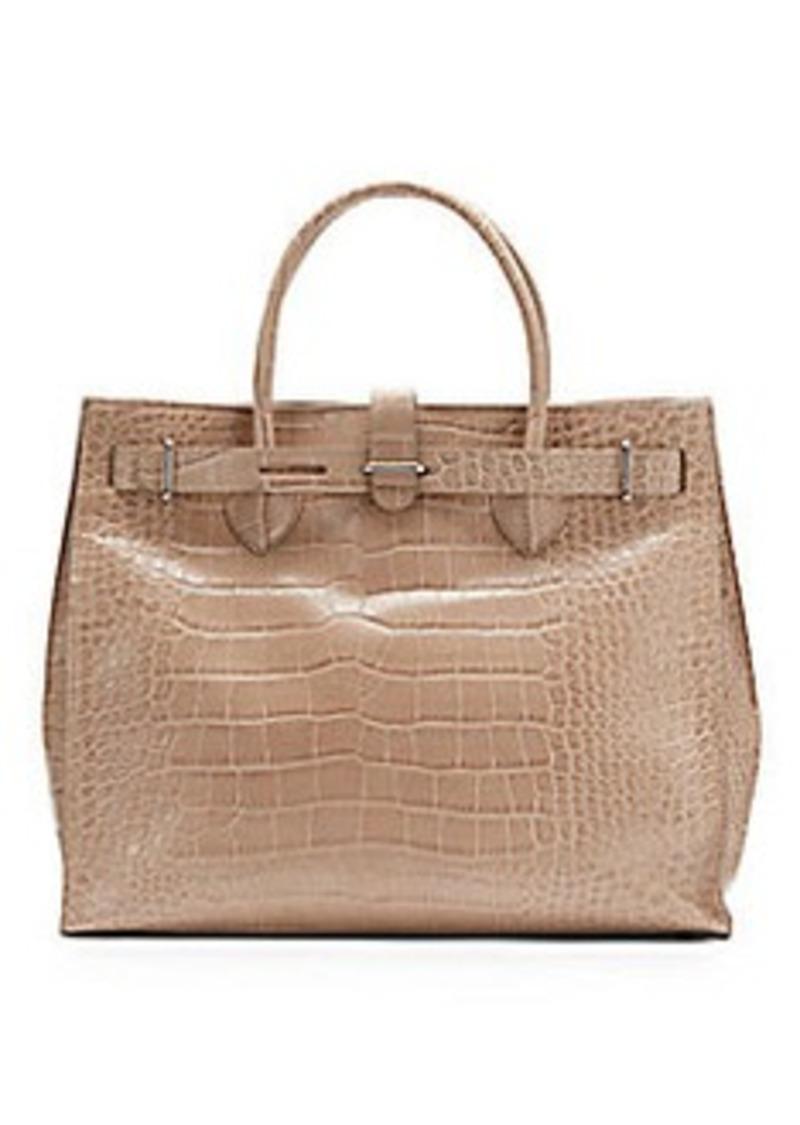 furla furla greta croc embossed leather satchel handbags shop it to me. Black Bedroom Furniture Sets. Home Design Ideas