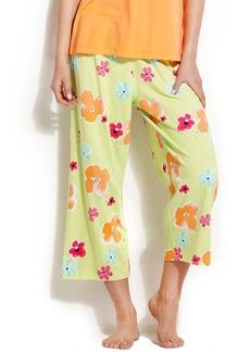 HUE Blooming Petals Capri Pants