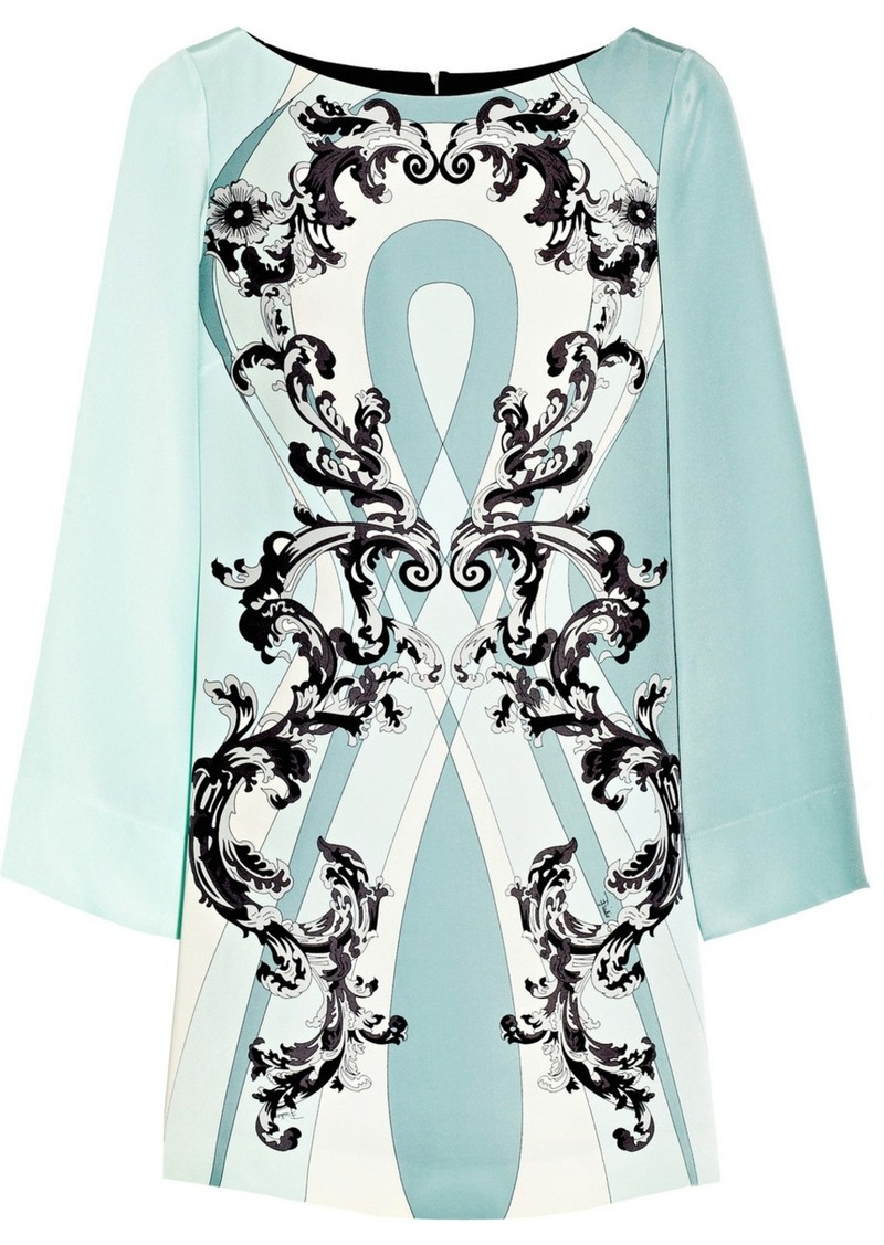 Emilio Pucci Printed silk-cady dress