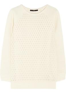 Tibi Jacquard-effect wool-blend sweater