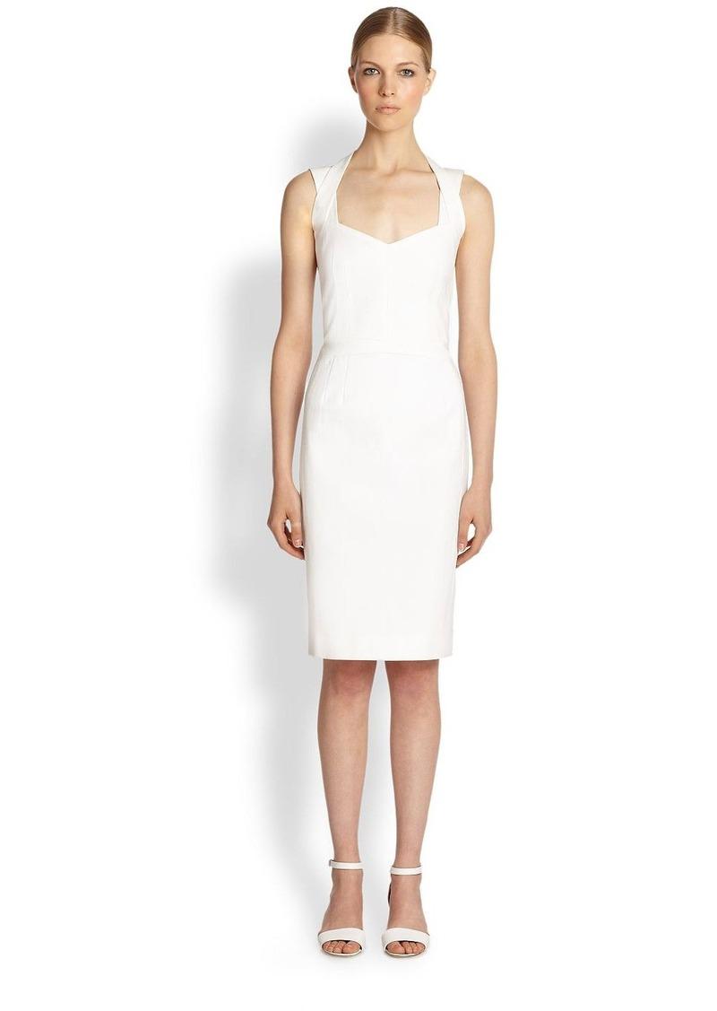 Narciso Rodriguez Cotton Pique Cutout Dress