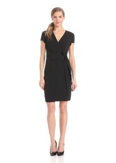 Ellen Tracy Women's Short Sleeve Wrap Dress