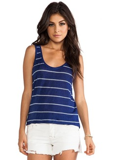 Joie Peyeche Mini Stripe Printed Tank in Navy