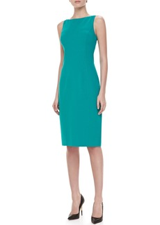 Michael Kors Sleeveless Boat-Neck Dress, Turquoise