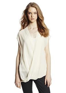 DKNY Jeans Women's High/Low Wrap Top