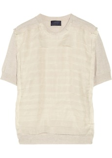 Lanvin Silk organza-trimmed wool top