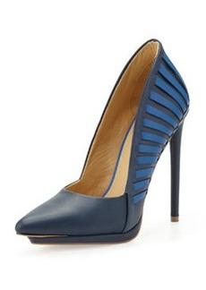 L.A.M.B. Nydia Fan Pump, Navy