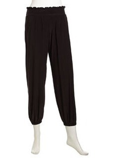 T Bags Stretch Relaxed Pull-On Pants, Black