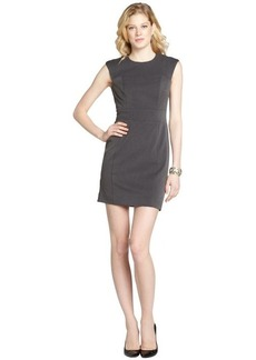 Nicole Miller charcoal 'Grenada' stretch twill dress