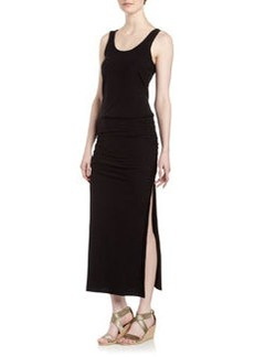 James Perse Slit-Side Maxi Dress, Black
