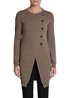 Brunello Cucinelli Cashmere Asymmetrical Button-Front Cardigan