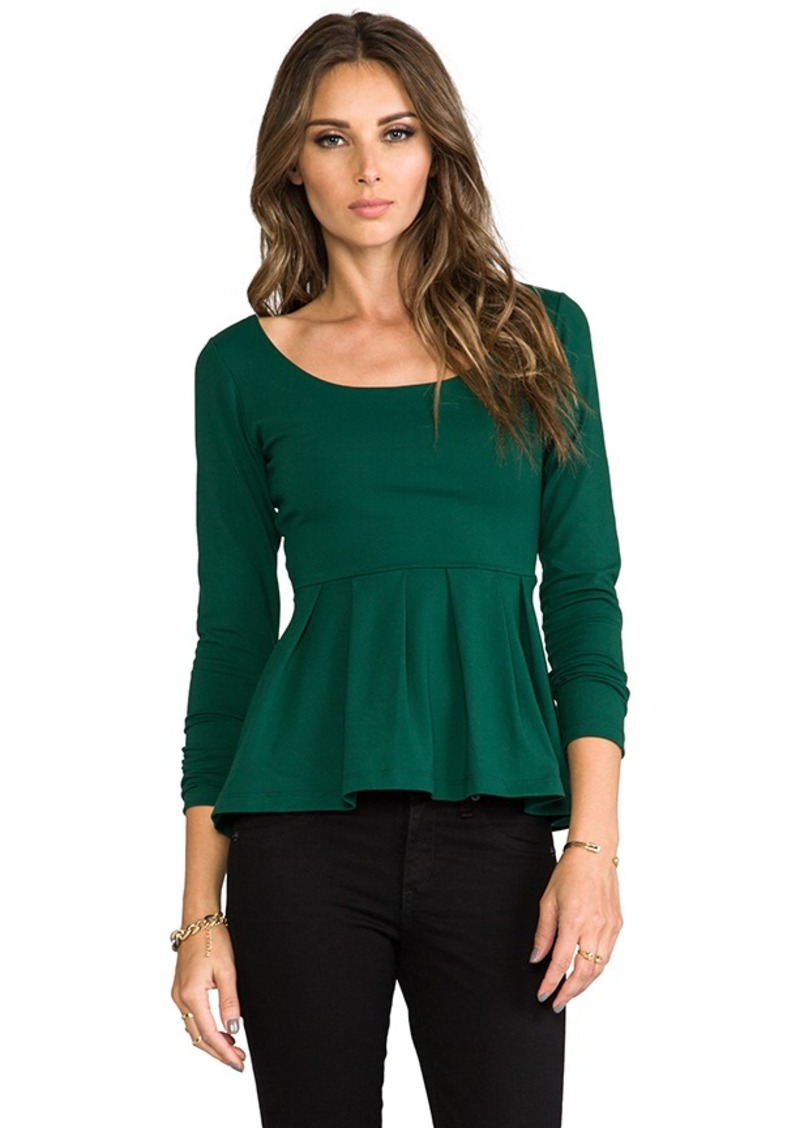 "Susana Monaco Eva 9"" Top in Dark Green"