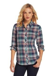 Lucky Brand Women's Blue Plaid Brooke Shirt
