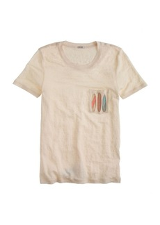 Linen pocket tee in surfboards