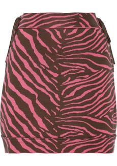 M Missoni Zebra-patterned stretch-cotton skirt