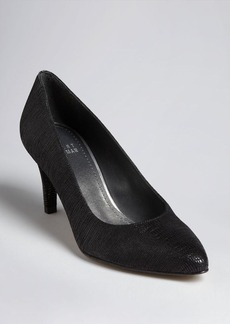 Stuart Weitzman Exotic Pointed Toe Pumps - Mimi Mid Heel