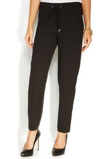 Ellen Tracy Slim-Leg Drawstring Pants