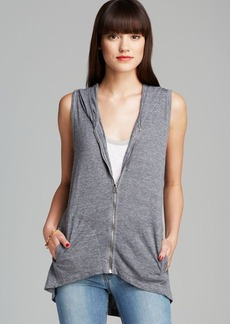 C&C California Vest - High Low Hooded