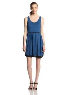 Kensie Women's Streaky Slub Jersey Dress