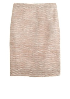 Collection peach tweed pencil skirt