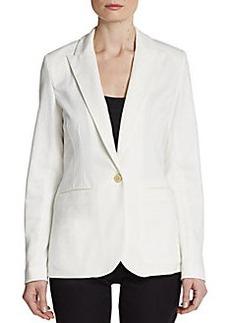 Saks Fifth Avenue BLACK Single-Button Blazer