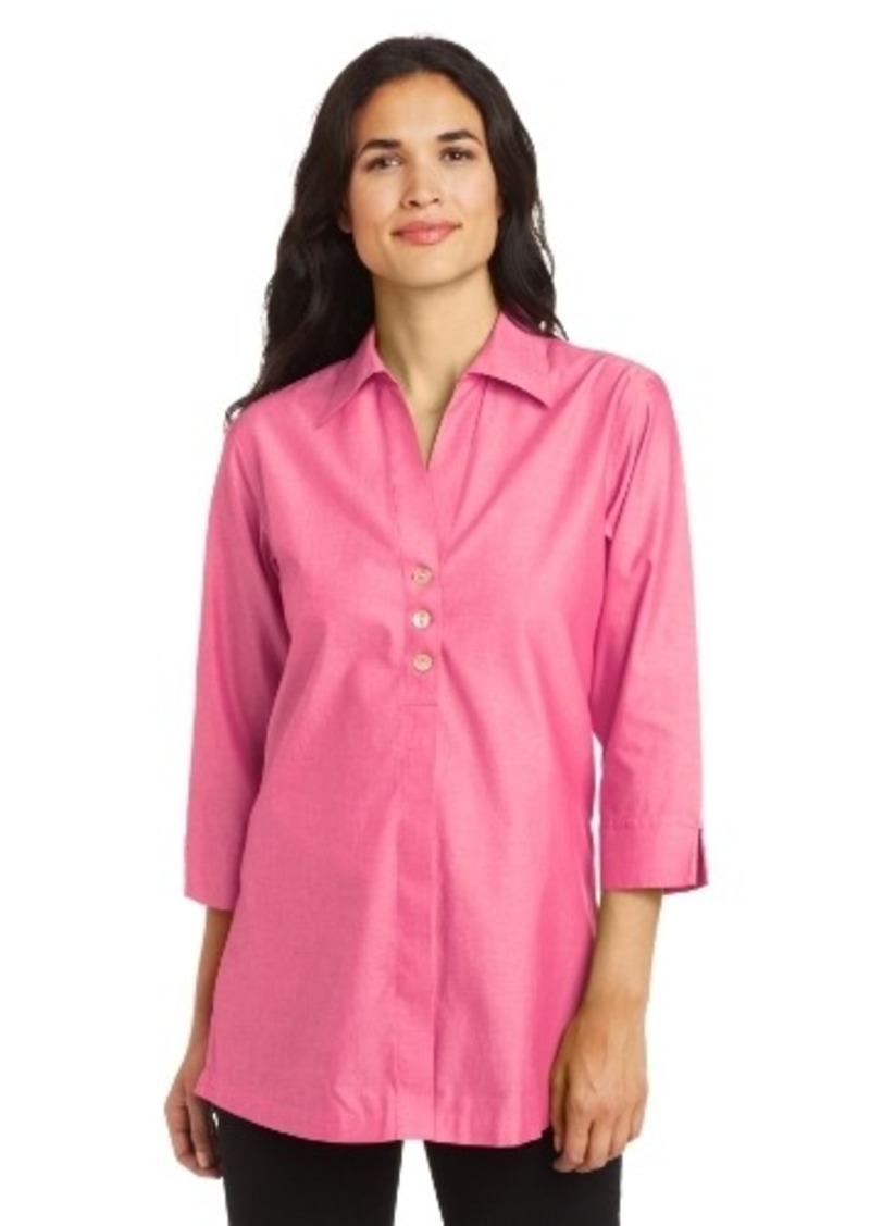 Foxcroft Women 39 S 3 4 Sleeve Shaped Tunic Shop It To Me