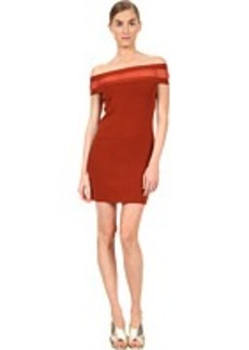Jean Paul Gaultier Solid Merino Off Shoulder with Inset Dress