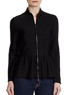 Armani Collezioni Peplum Zip Jacket