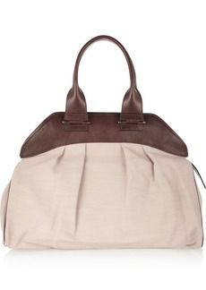 Marni Leather-trimmed woven tote