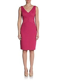 David Meister Satin Paneled Cocktail Dress