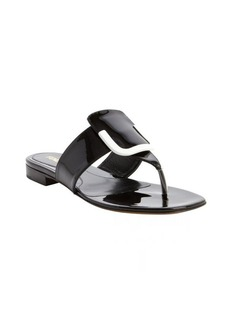 Fendi black and white leather sandals