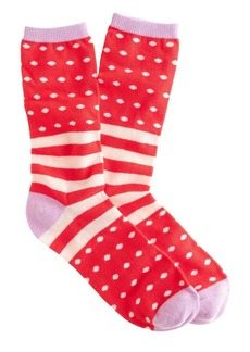 Stripe and dot trouser socks