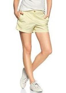 Sunkissed piped khaki shorts