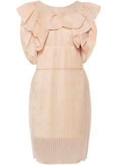 Chloé Ruffled silk-blend organza dress