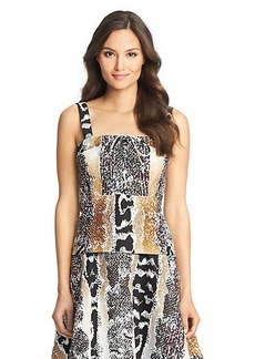 Avalon Printed Cotton Corset Top