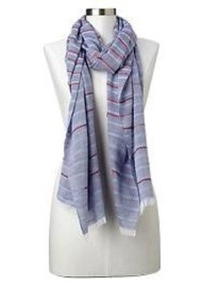 Stripe chambray scarf