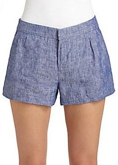 Joie Merci Chambray Linen Shorts