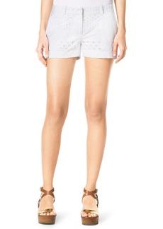 MICHAEL Michael Kors Eyelet Mini Shorts