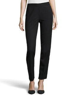 Lafayette 148 New York Contemporary Stretch Slim Pants, Black