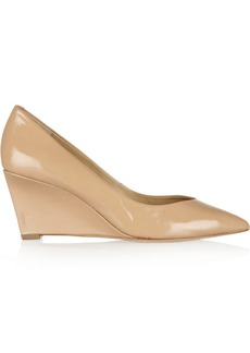 Diane von Furstenberg Park patent-leather wedge pumps