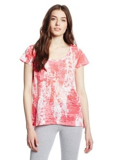 Calvin Klein Performance Women's Illuminate Print Burnout Tee