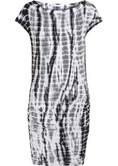James Perse Tie-dyed stretch-cotton mini dress