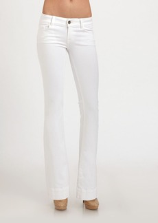 J Brand Love Story Flare-Leg Jeans/100 Blanc