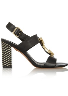 Diane von Furstenberg Padme embellished leather sandals