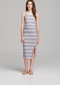 Dolce Vita Dress - Calico Linen Thin Stripe