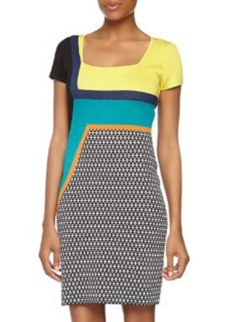 Catherine Malandrino Cora Abstract-Print Shift Dress, Cornsilk