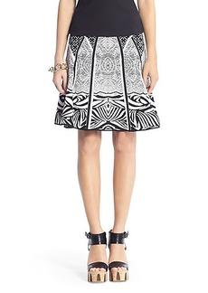 Samara Structured Knit Flared Skirt